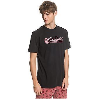 quiksilver ny slang kortermet t-skjorte i svart