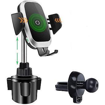FengChun Caricabatterie per Auto Wireless Supporto per Portabicchieri per Telefono, Universal