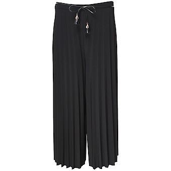 Culotte plisada negra con patas anchas de Frank Lyman