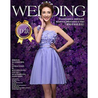 Short Bridesmaid Chorus Performance Dress