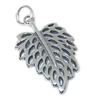Leaf Sterling Silver Charm .925 X 1 Trees & Leaves Charms - 15384