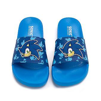 Sonic The Hedgehog Sliders voor jongens   Kids Sonic Gezicht Sandalen Strand Douche schoenen   Childrens Blue Flip Flops Zomer Footwear Game Merchandise Cadeau