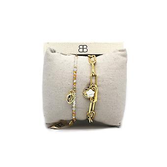 Boho betty tblisi 2 layered bracelet stack