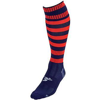 Presné Obruč Pro Futbalové ponožky Námorníctvo / Červená - Veľká Británia Veľkosť 3-6