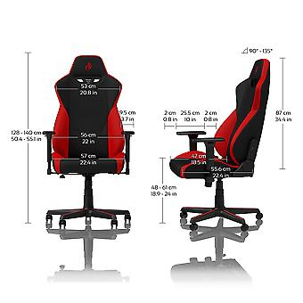 Nitro Concepts S300 Fabric Gaming Chair - Inferno Red