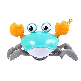 23X10cm blue wind up bath toy creative crab shaped water toy pull walking toy for baby dt3217