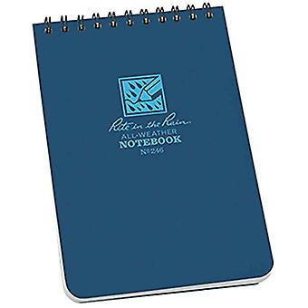 """Rite in the Rain Universal Notebook, Top Spiral Bound, 4"""" x 6""""  (50 Sheets) Blue"""