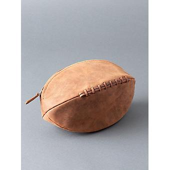 Hunter Rugby Ball in pelle lavare Bag in Tan
