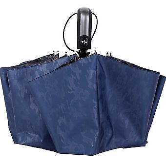 Blue  oversized printed vinyl uv protection ten bone reinforcement windproof umbrella folding parasols homi4366