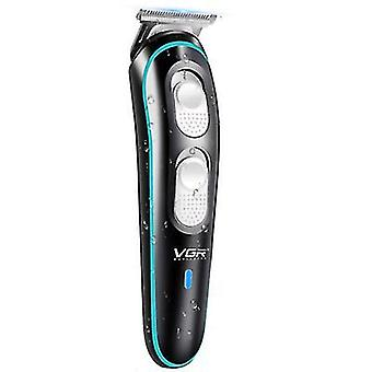 VGR Black Stainless Steel Hair Clippers,Rechargeable Hair Trimmer