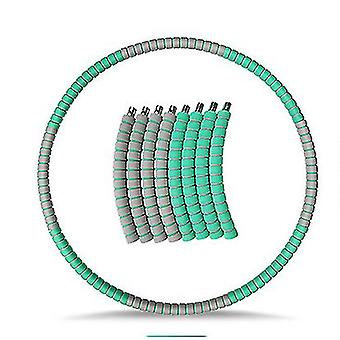 Weighted Hula Hoop for Adults, Weight Loss Exercise Hoop with Stainless(Green Gray)