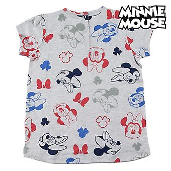Child's Short Sleeve T-Shirt Minnie Mouse Grey
