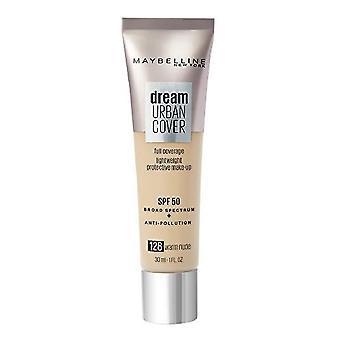 Liquid Make Up Base Dream Urban Cover Maybelline 128-warm nude Spf 50 (30 ml)