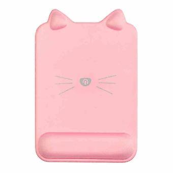 ピンクマウスパッドリストパッドシリコーン手首サポートガールのオフィスコンピュータ手首マウスパッド