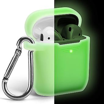 Case with Keychain Compatible for Apple AirPods 1 & 2_ Night Grow Neon Green(Night Grow Neon