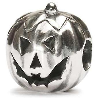 Trollbeads perle d'argent halloween citrouille tagbe-30042