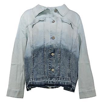 Laurie Felt Women's Plus Classic Denim Ombre Jacket Blue A352666