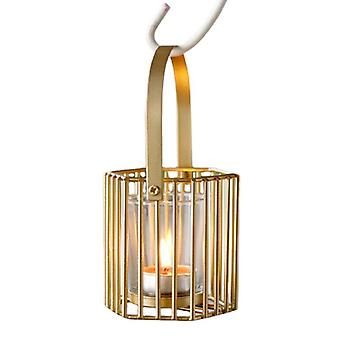 Candle Holder Golden Hollow Candles Cup For Home Decoration