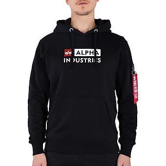 Alpha Industries Felpa con cappuccio da uomo Alpha Block Logo