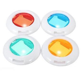 4-st Färgglada När-upp-lins Filter-set