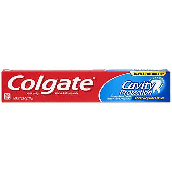 Colgate Cavity Protection Toothpaste with Fluoride, Great Regular Flavor - 2.5 Ounce