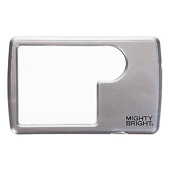 Mighty Bright LED Lighted Wallet Magnifier - Silver