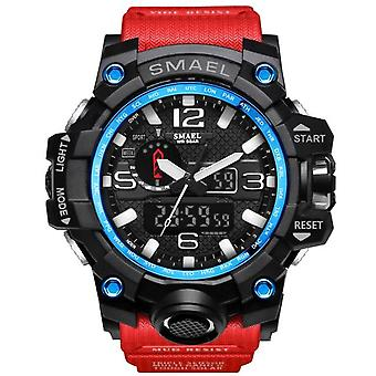 2021 Men Sports Watches Dual Display Analog Digital(Red)