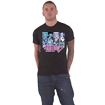 Hatsune Miku T Shirt 3 Singers logo new Official Mens Black