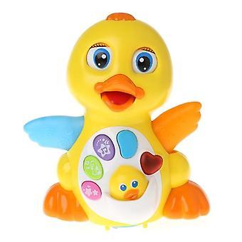 מקסים מוסיקלי ברווז צעצוע אורות פעולה עם צעצועי קול מתכוונן לילדים תינוק| חיות מחמד אלקטרוניות