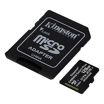Kingston 128GB mikrofónSDXC Plátno Vybrať Plus 100R A1 C10 Karta + ADP