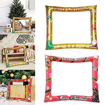 Inflatable Christmas Photo Booth Frame Photo Booth Props Christmas Party