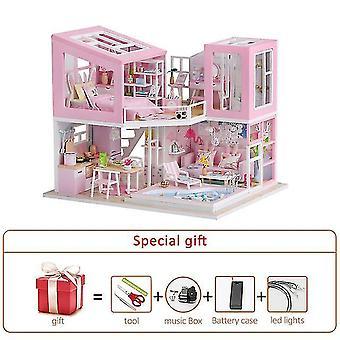 Iso nukkekoti huonekalut miniatyyri rakennussarjat diy nukkekoti sarja huonelaatikko huvila puutarha puutalot