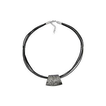 Necklace Trapezium Grey-black 50cm 44027 44027 44027