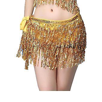 الرقص الورك تنورة شرابة وشاح الترتر التفاف الهذيان Costumefour طبقات