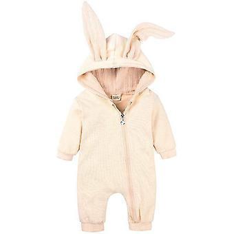Baby Bunny Ear Zip Up Romper