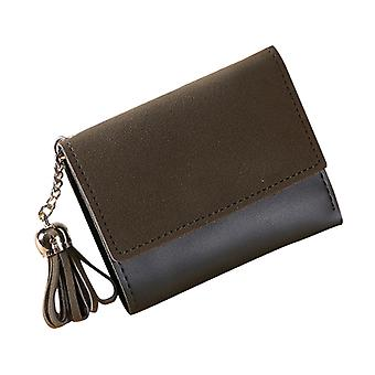 Women's Fashion Tassel Purse Pu Leather Wallet Female Short Credit Card Holder Coin Trifold Wallets For Girls Ladies Hasp Money Bag