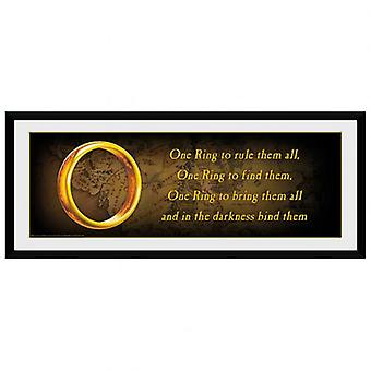 Lord Of The Rings Picture één Ring 30 x 12