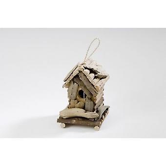 Nid de maison de l'oiseau bois flotté