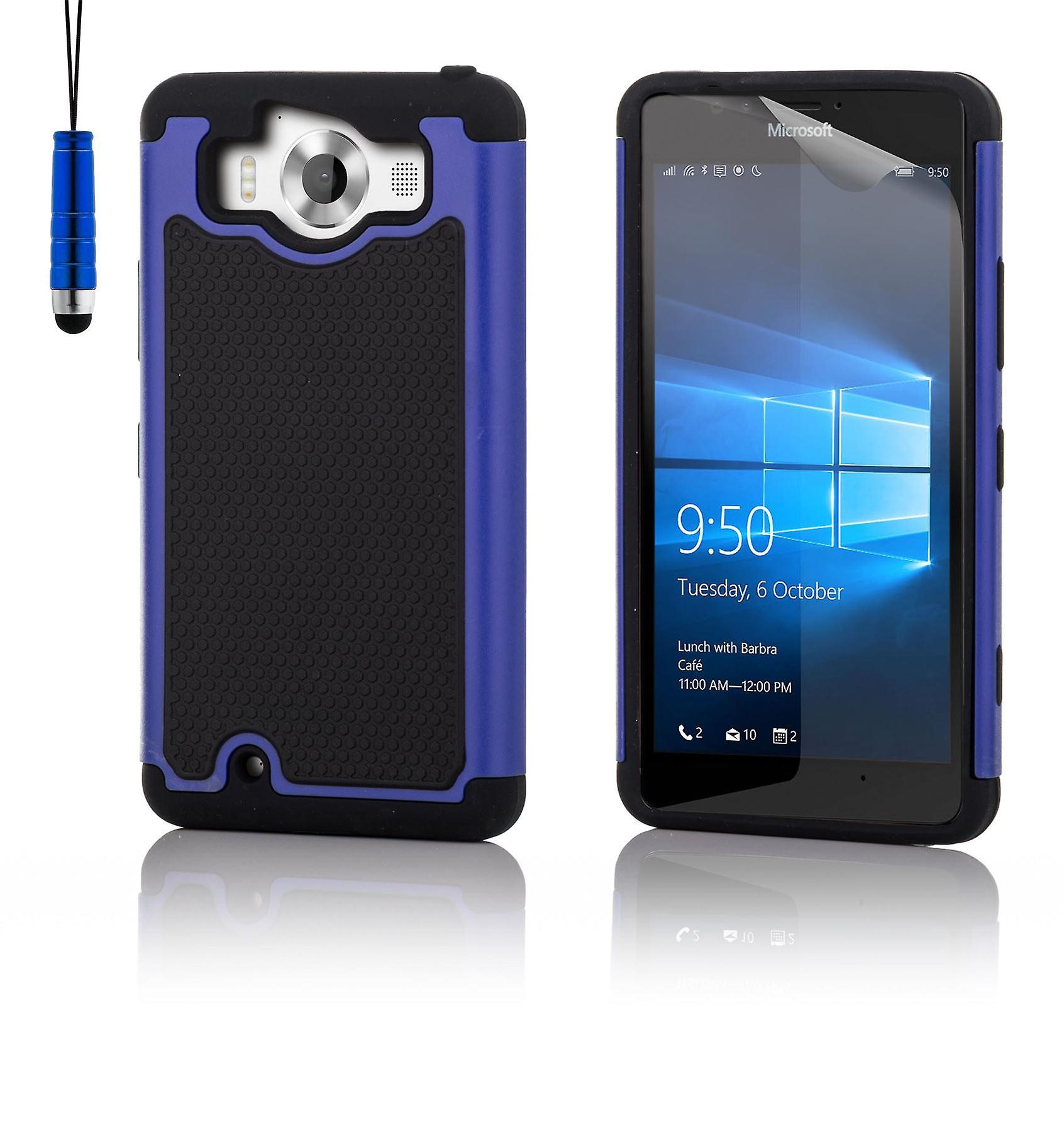Shock proof case + stylus for Microsoft Lumia 950 - Deep Blue