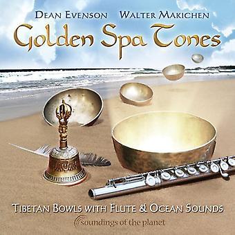 Evenson/Makichen - Golden Spa Tones: Tibetan Bowls with Flute & Ocean [CD] USA import
