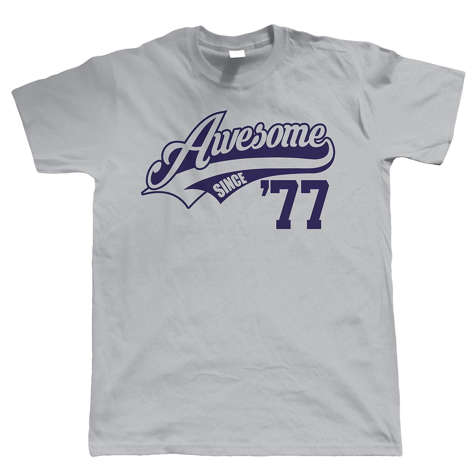 Awesome Since 1977 Mens Funny T Shirt 40th Birthday Gift