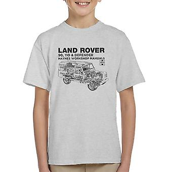 Haynes Owners Workshop Manual Land Rover Defender Black Kid's T-Shirt