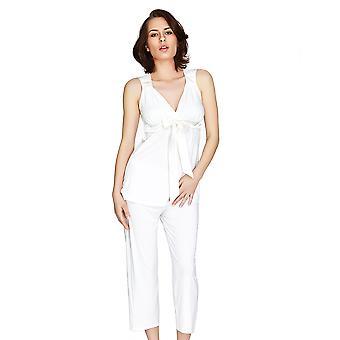 Mio Lounge Santiago Micro Modal Elfenbein Pyjama Set 132C488I