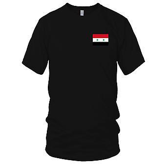 Drapeau National du pays syrien de Syrie - brodé Logo - T-Shirt 100 % coton T-Shirt Mens
