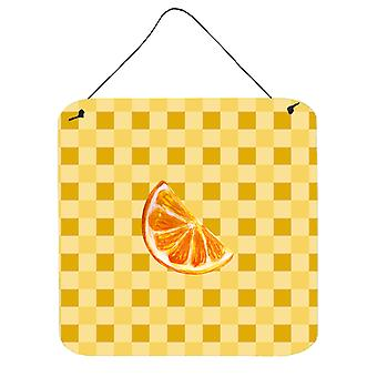 Sliced Oranges on Basketweave Wall or Door Hanging Prints