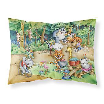 Animals at A Picnic Fabric Standard Pillowcase