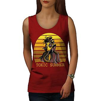 Toxic Summer Death Women RedTank Top | Wellcoda