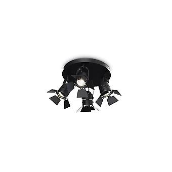 Ideal Lux Ciak Theater Style schwarz 4 Deckenleuchte einstellbar