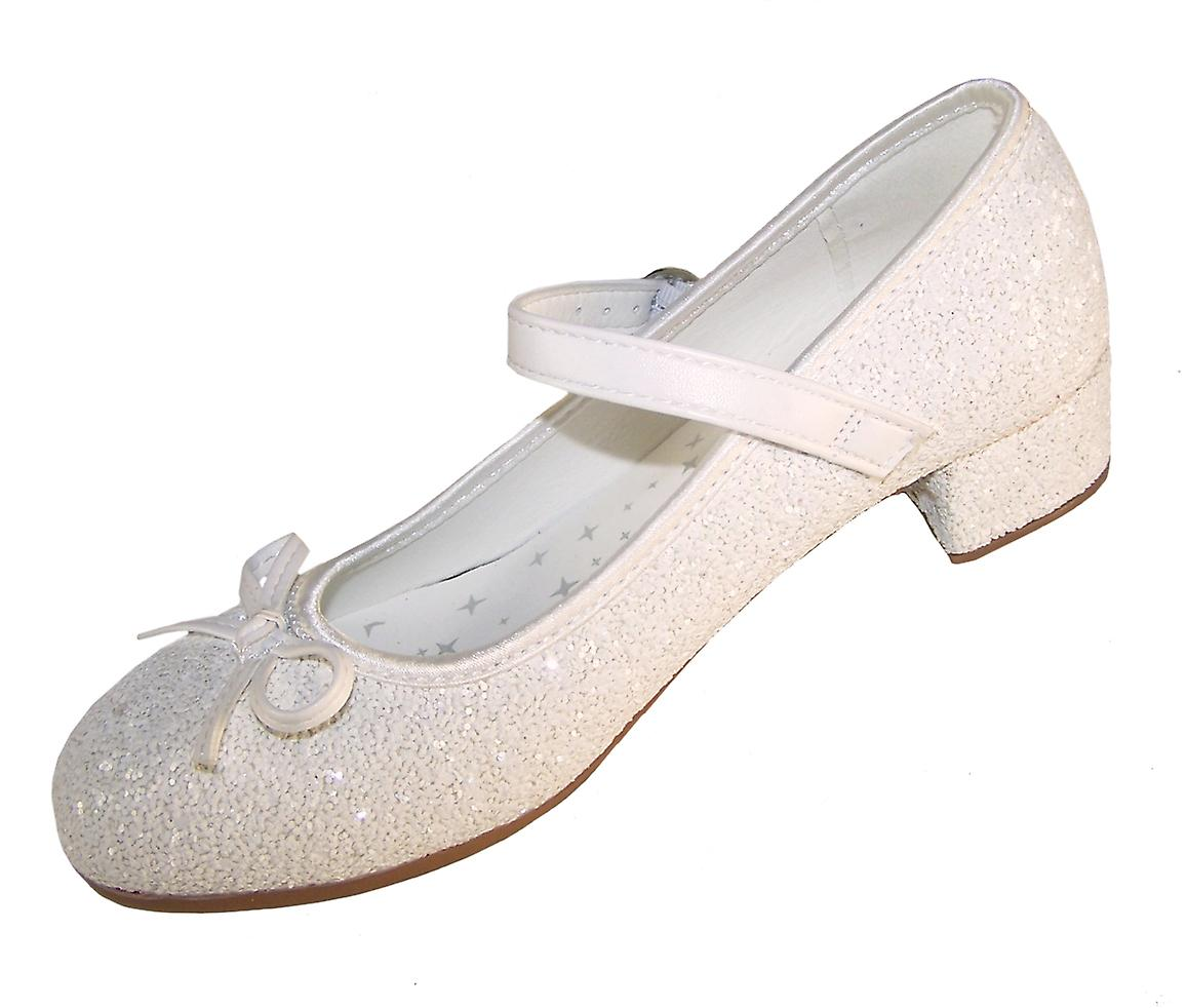 Girls white bridesmaid and communion shoes and socks set