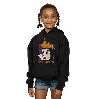 Disney Girls Evil Queen Cropped Head Hoodie